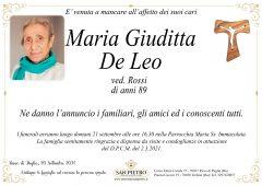 Maria Giuditta De Leo   ved. Rossi